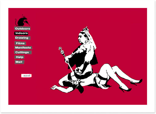 Banksys Queen Victoria