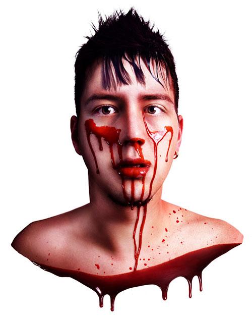 Büste, Selbstopfer, Self-sacrifice, Blut, Blood, Kill