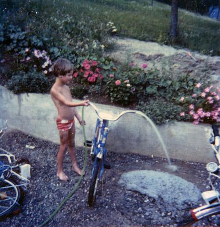 Schlauch, Fahrrad, Wasser