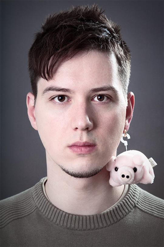 Schwein am Ohr