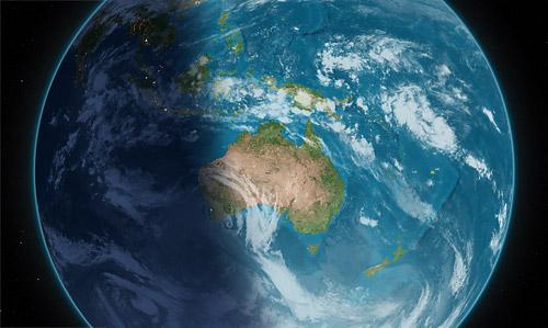 Screenshot Earth Desk