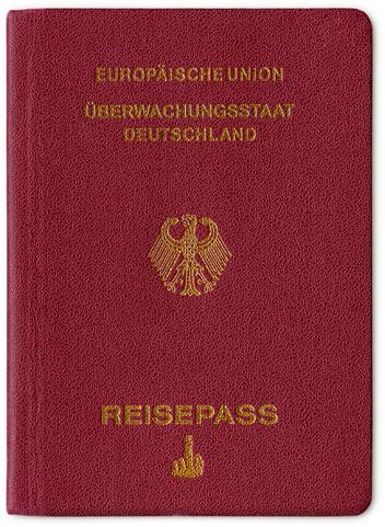 Überwachungsstaat Deutschland Reisepass