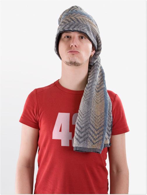 Towel Day: Ich mit Handtuch auf dem Kopf
