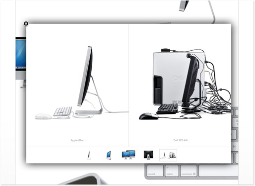 Screenshot der Apple Site