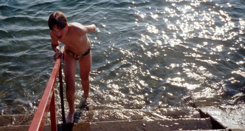 Manfred im Wasser