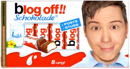 Blogschokolade: Ein bekanntes Gesicht auf der Packung