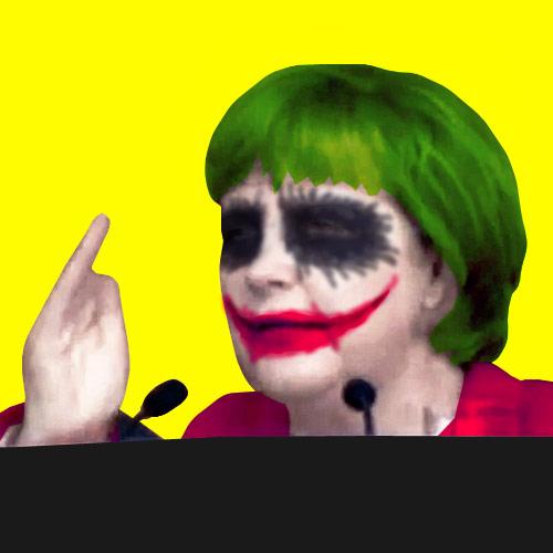 Angela Merkel als Joker